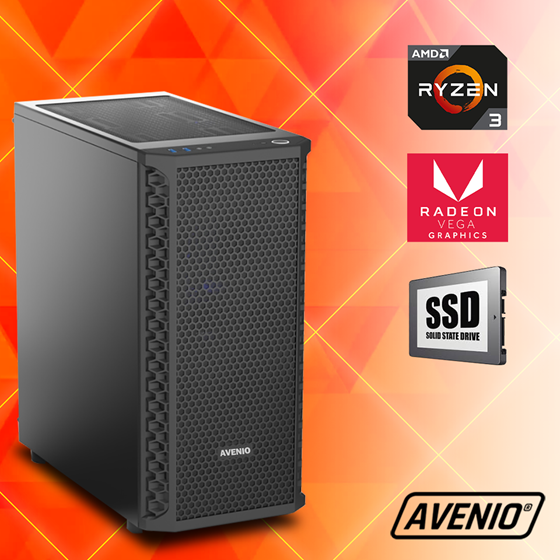 Avenio Vindicator  AMD Ryzen 5 3400G 3.70GHz 8GB 240GB SSD + 1TB HDD FreeDOS Radeon™ Vega 11 Graphics P/N: 02241527
