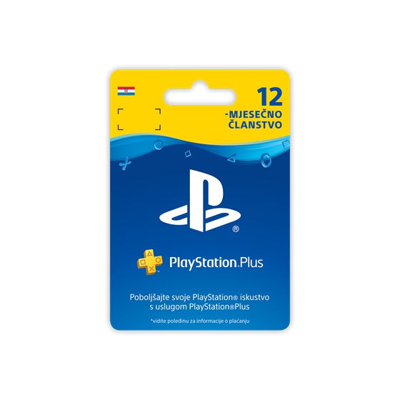 Sony PlayStation Plus Card 365 Days Hanger P/N: 9807247