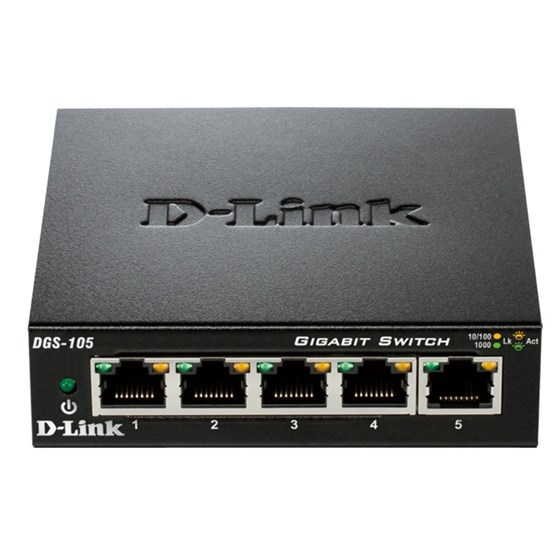D-Link Switch 5-port 10/100/1000Mbps P/N: DGS-105/E