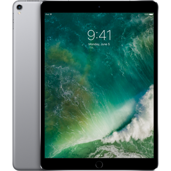 Tablet Apple iPad Pro Wi-Fi + Cellular A10X 64GB iOS 10 10.5'' LED Retina Multi-Touch Space Gray P/N: mqey2hc/a