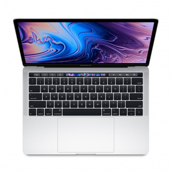 "Apple MacBook Pro 13 Retina Touch Bar Intel Core i5 2.40GHz 8GB 256GB SSD Mac OS Mojave 13.3"" Intel Iris Plus Graphics 655 Silver P/N: mv992cr/a"