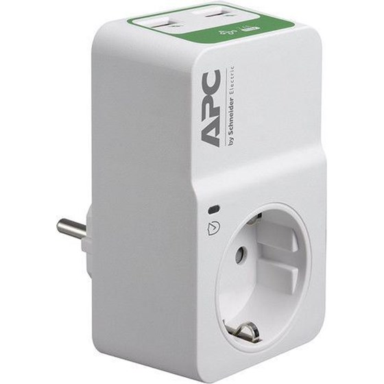 APC Essential SurgeArrest 1 Outlet 230V, 2 Port USB Charger